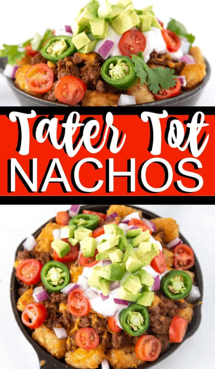 Tater Tot Nachos. These loaded tater tot nachos recipe is the perfect game day appetizer. We have what is soon to be your favorite totchos recipe loaded with all the fixings.