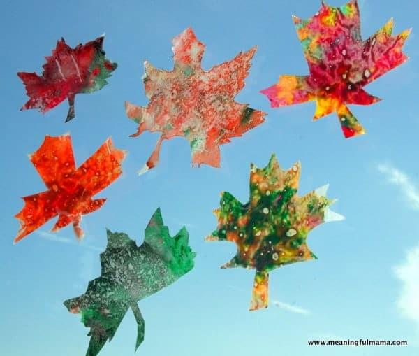 leaf crayons
