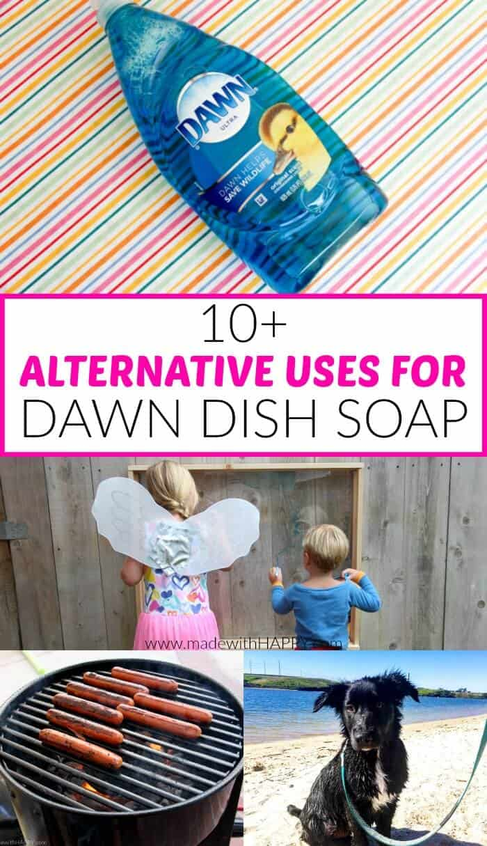 10 + Alternative Uses for Dawn Dish Soap | Alternative uses for liquid soap | Cleaning Grill with Dawn | Washing your pet with dawn dish soap | DIY Bath Soap | www.madewithhappy.com