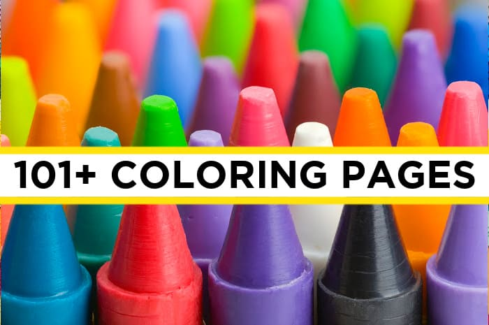 101 Coloring Pages For Kids