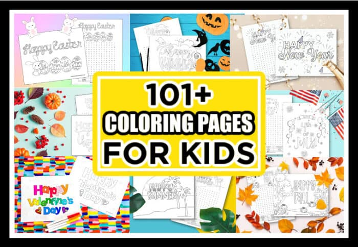 101+ Fun Coloring Pages For kids