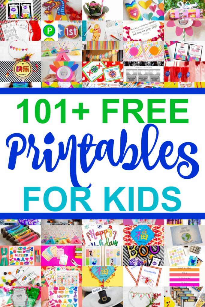 101+ Free Printables For kids