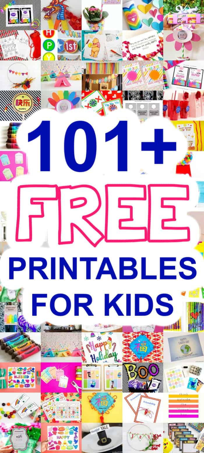101 Free Printables For Kids Crafts Puzzles Games More
