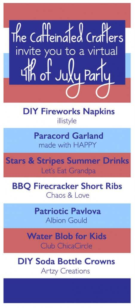 Caffeinated Crafters Throw a 4th of July Party! Check out these fab ideas for the best ever patriotic celebration!