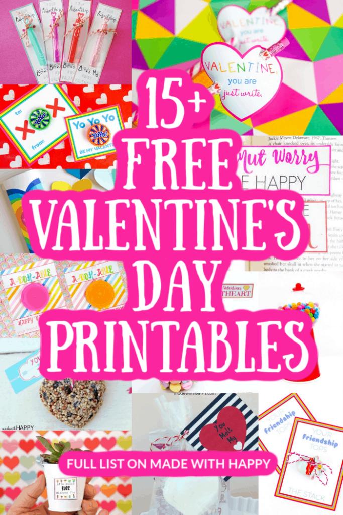 15+ Valentine's Day Printables For Kids