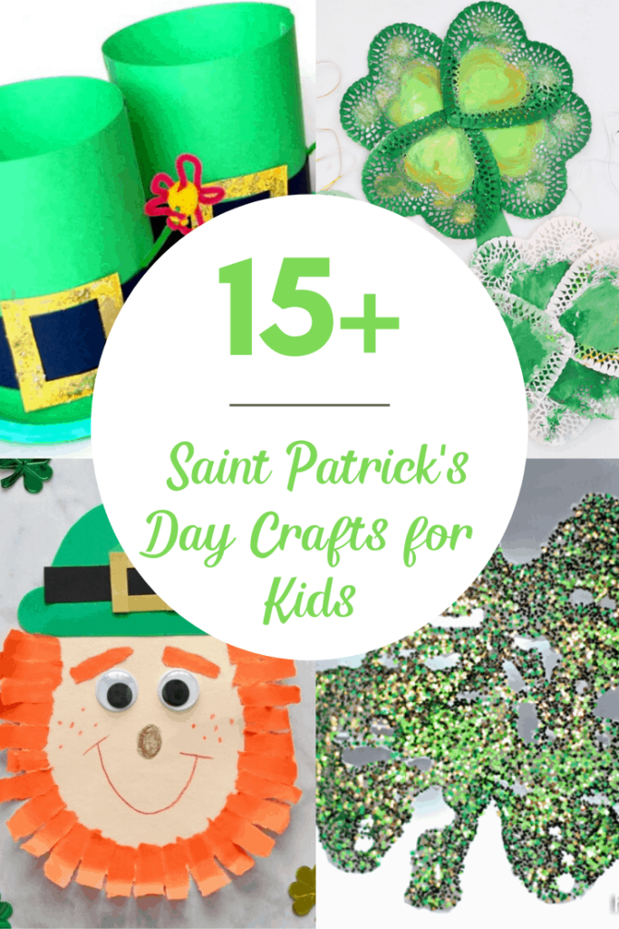 15+ St. Patricks Day Crafts for Kids with Leprechauns and Shamrocks