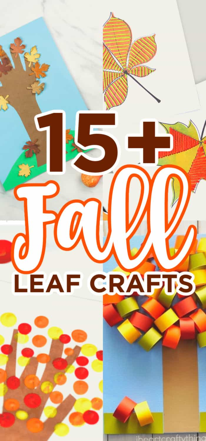 Kids leaf crafts