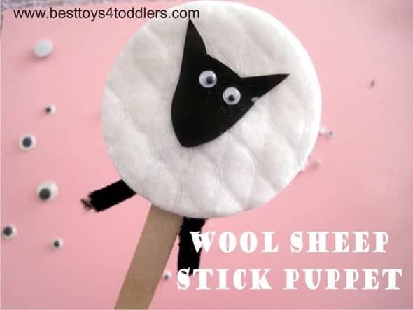 Wool Sheep Stick Puppet