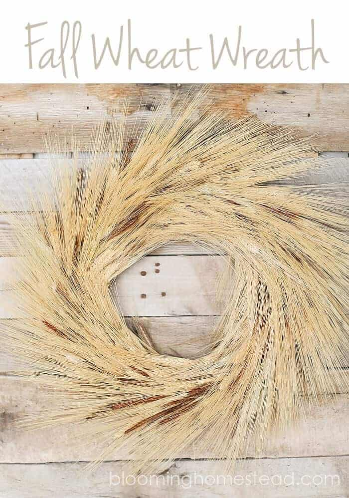 Fall Wheat Wreath. Fall Craft Ideas. Fall Decor, Fall Inspiration, and Fall Recipes. Link party sharing all kinds of Fall Inspirations. Pumpkins and other decor.