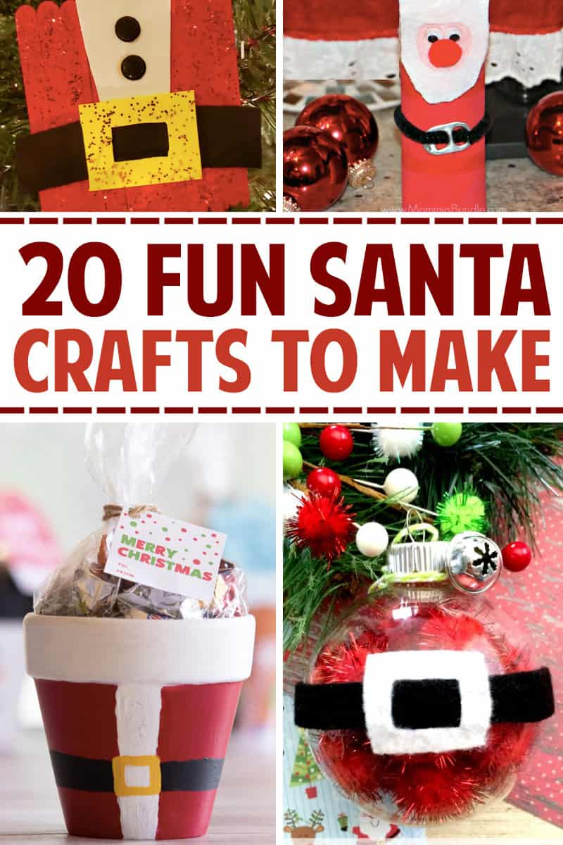 20 Fun Santa Crafts to Make