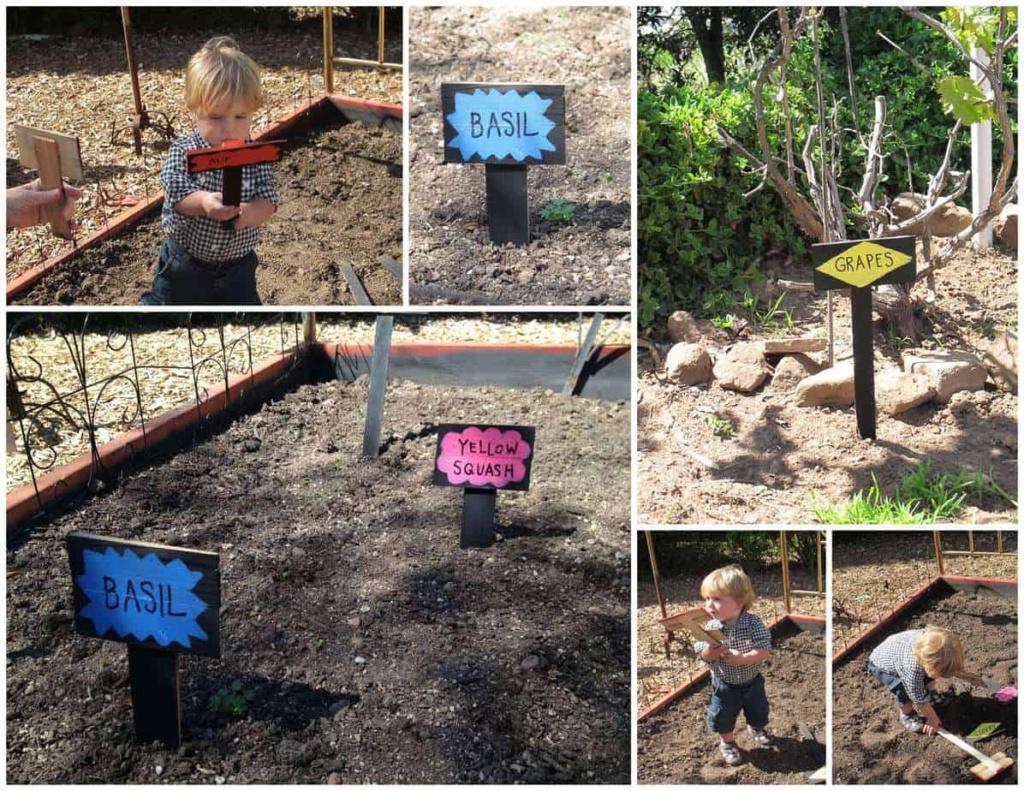 Chalkboard Gardene Posts
