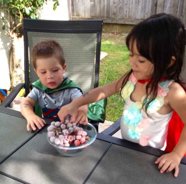 Phin & Amelia grapes 2