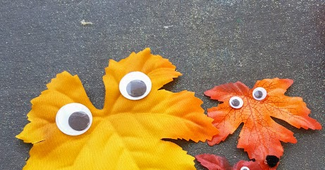 googley eye leaves