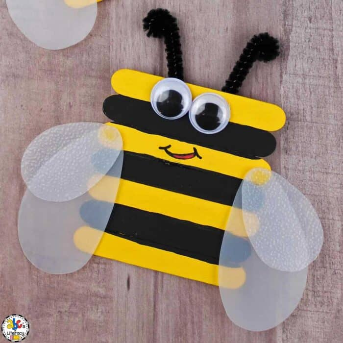Craft Stick Bumblebee