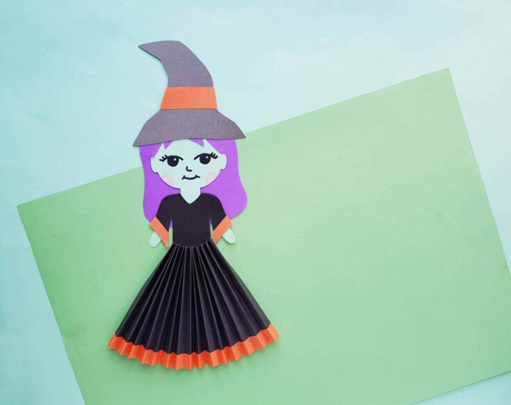 Witch Craft For Kids made out of paper