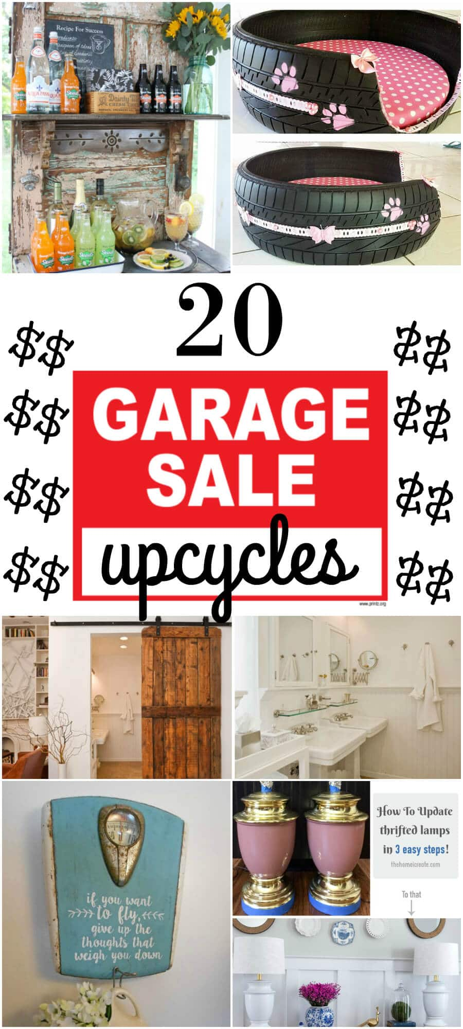Garage Sale Upcycles | DIY Upcycles | www.madewithhappy.com