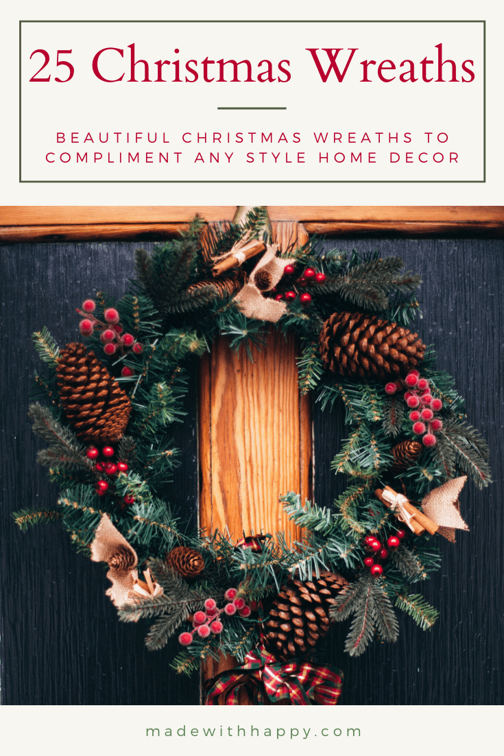 25 Christmas Door Wreath Ideas Made With Happy