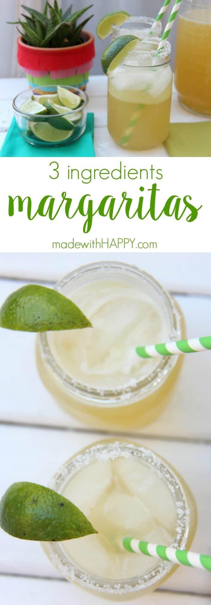 The best Margarita | 3 Ingredients margarita | The best beer margarita recipe | Margarita Cocktail | www.madewithhappy.com