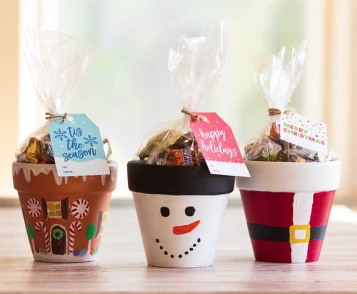 Terra Cotta Pot Christmas Crafts | Santa, Snowman, Gingerbread House