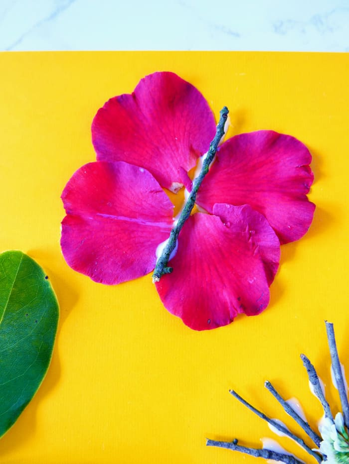 attach petals to other sides of stick