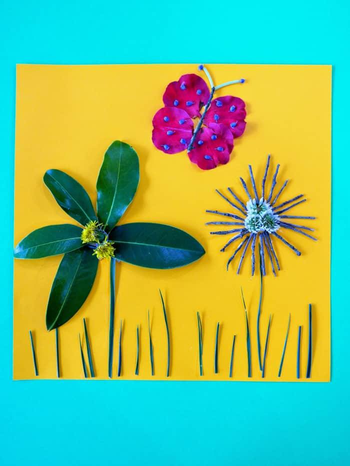 3D Nature Walk Flower Art