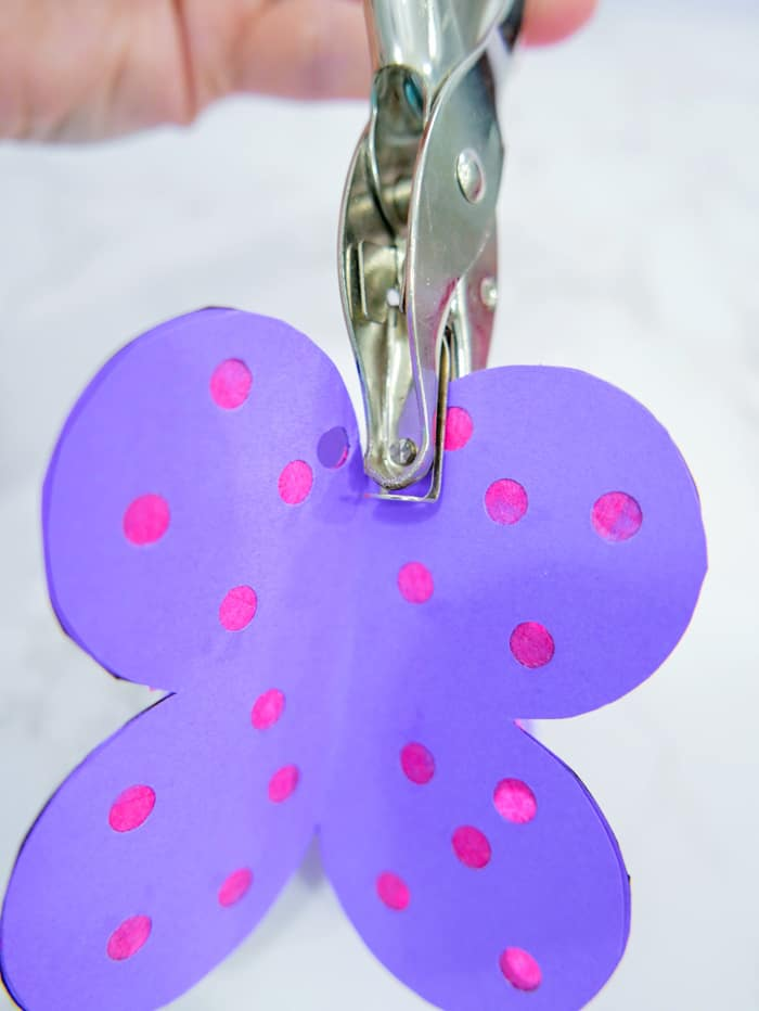 hole punch the top