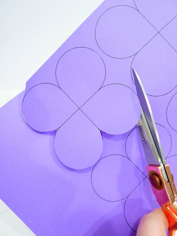 1. Print and cut the butterfly templates out of cardstock