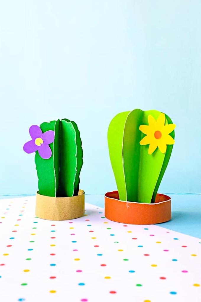 Paper Cactus Craft for Kids
