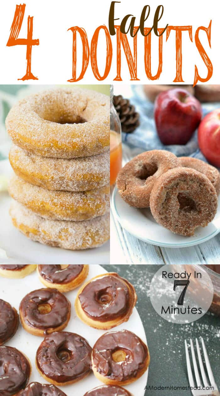 Four Fall Doughnuts | Breakfast Donuts perfect for Fall | The Handmade Hangout