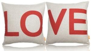 Linen Couple LOVE Pillow Cases