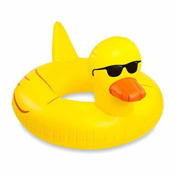 15+ Awesome Pool Floats for Home | Pool Floaties  for the home pool | Yellow Rubber Ducky Pool Floats | www.madewithhappy.com