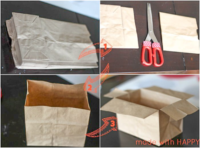 how to turn brown bag into punch pinata bag