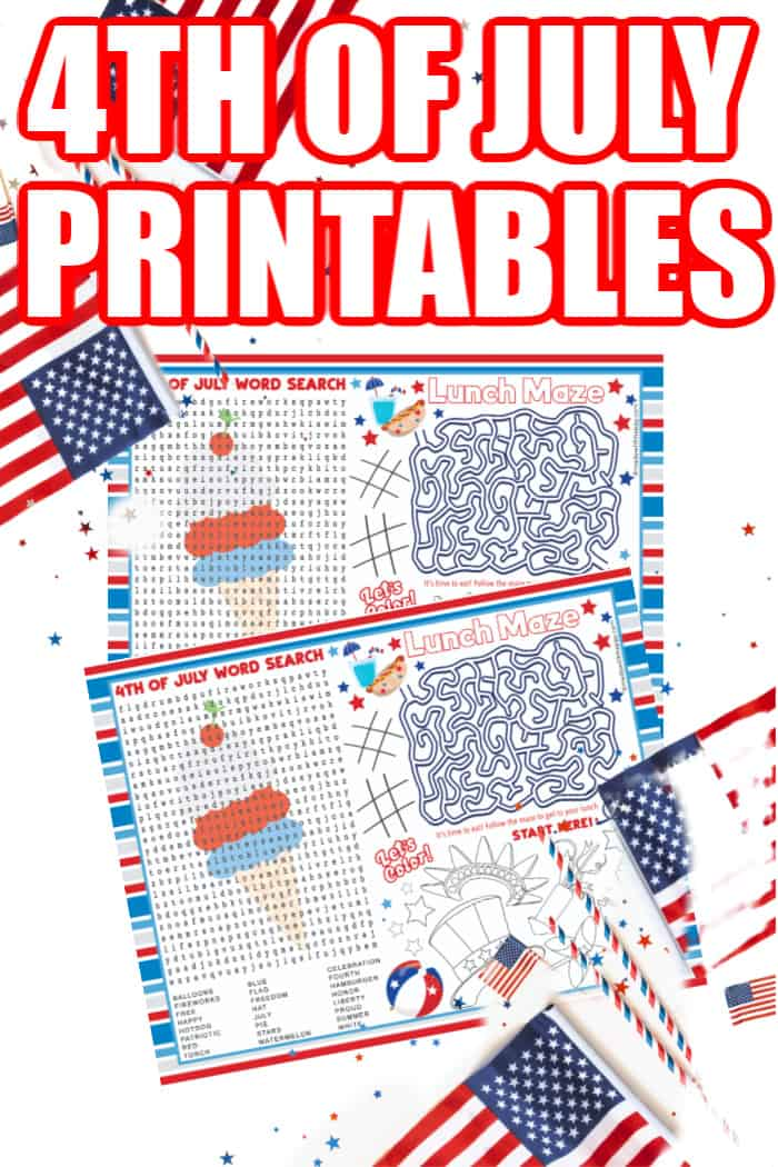4th of July Kids Printables