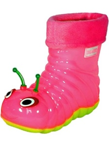 Hot Pink Caterpillar Rain Boots for kids. 15+ Rain Boots for Kids. Spring rain boots for kids. Bright colored rain boots for kids. www.madewithhappy.com