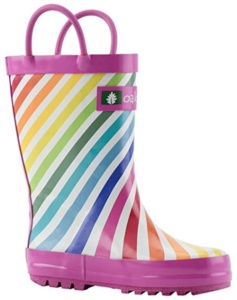 Rainbow Rain Boots For Kids. 15+ Rain Boots for Kids. Spring rain boots for kids. Bright colored rain boots for kids. www.madewithhappy.com