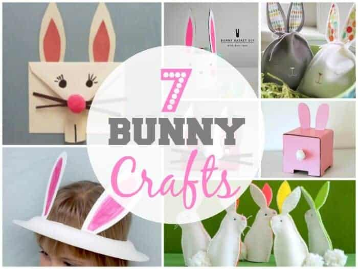 Seven Bunny Crafts for Easter.  Kids Easter Crafts.  DIY Easter Decorations.