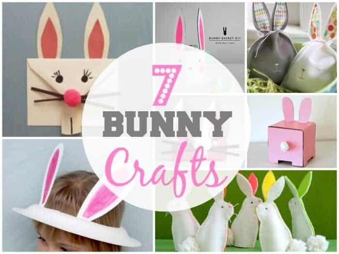 Seven Bunny Crafts for Easter.  Kids Easter Crafts.  DIY Easter Decorations.