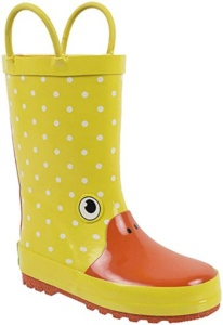 Yellow Duck Rain Boots For Kids. 15+ Rain Boots for Kids. Spring rain boots for kids. Bright colored rain boots for kids. www.madewithhappy.com
