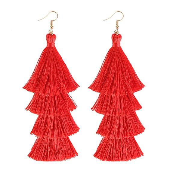 Red Tassle Earing