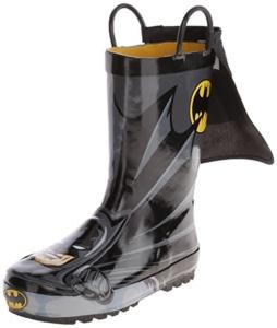 Batman Rain Boots For Kids. 15+ Rain Boots for Kids. Spring rain boots for kids. Bright colored rain boots for kids. www.madewithhappy.com