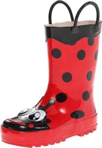 Lady Bug Rain Boots. 15+ Rain Boots for Kids. Spring rain boots for kids. Bright colored rain boots for kids. www.madewithhappy.com