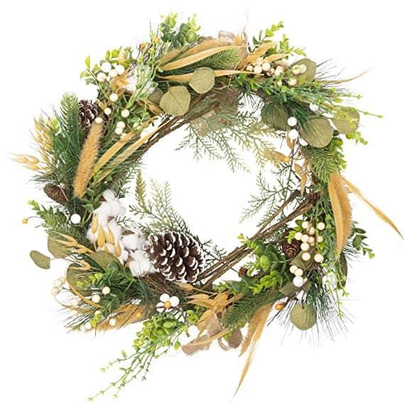Winter Woodland Nature Inspired Christmas Wreath