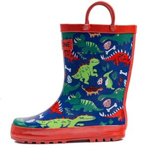 Dinosaur Rain Boots For Kids. 15+ Rain Boots for Kids. Spring rain boots for kids. Bright colored rain boots for kids. www.madewithhappy.com