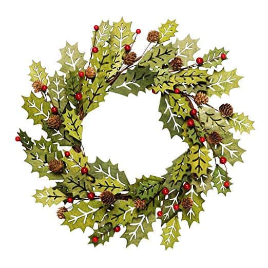 Greenwood Winter Wreath with Berries