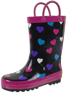 Heart Rain Boots For Kids. 15+ Rain Boots for Kids. Spring rain boots for kids. Bright colored rain boots for kids. www.madewithhappy.com