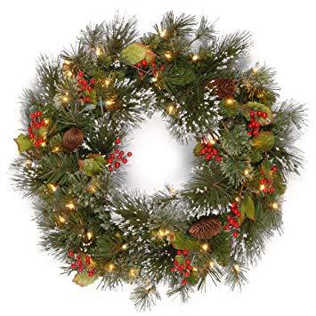 24 Inch Wintery Pine Wreath