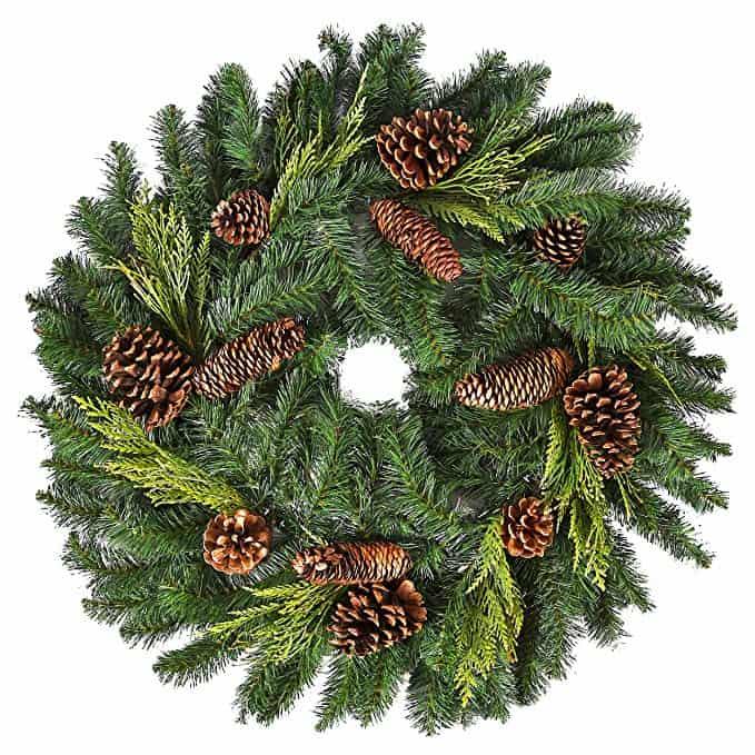 Juniper Pine Wreath with Cones & Cedar Sprigs