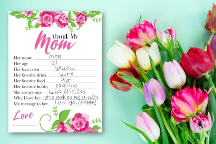 Questions for kids for Mother's Day