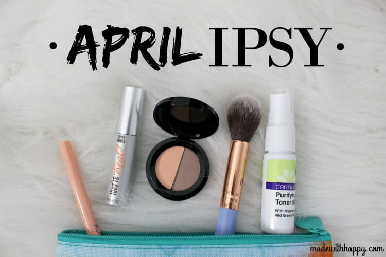 April IPSY Glam Bag | Beauty | www.madewithHAPPY.com