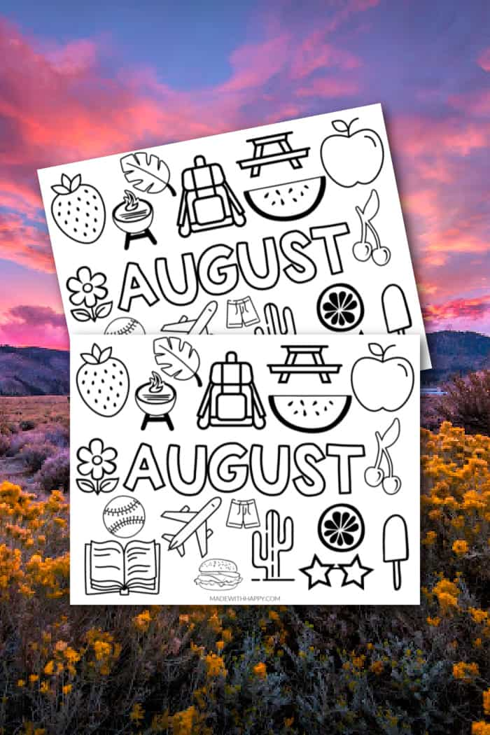 Fun Coloring Pages for August